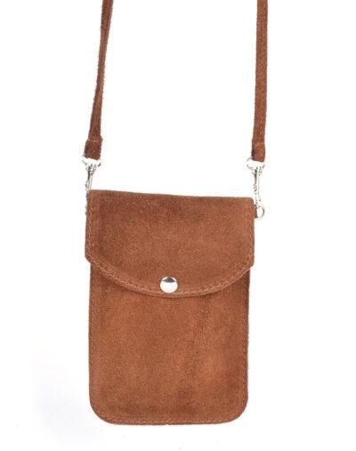 Suede Telefoontasje Simple bruin bruine kleine schoudertasjes voor mobiel trendy leren tassen kopen