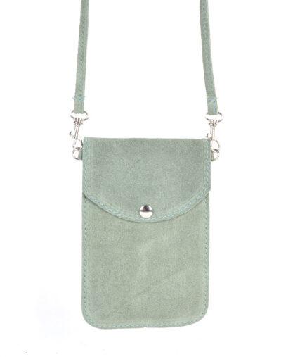 Suede Telefoontasje Simple mint groen kleine schoudertasjes voor mobiel trendy leren tassen kopen