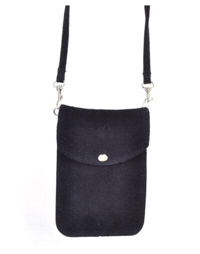 Suede Telefoontasje Simple zwart zwarte kleine schoudertasjes voor mobiel trendy leren tassen kopen