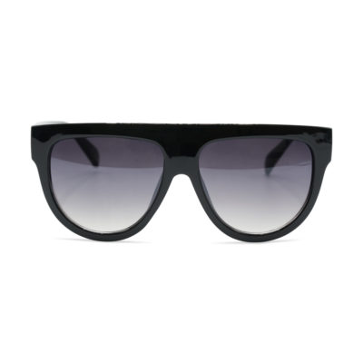 Zonnebril Kim Sunnies half montuur zwart zwarte trendy dames brillen zonnebril designer inspired look a like kopen