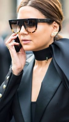 Zonnebril Kim Sunnies half zwart bruin bruine trendy dames brillen zonnebril designer inspired bestellen