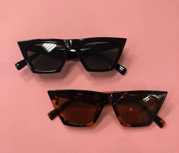 Zonnebril Trendy zwart zwarte grote vierkante brillen kopen