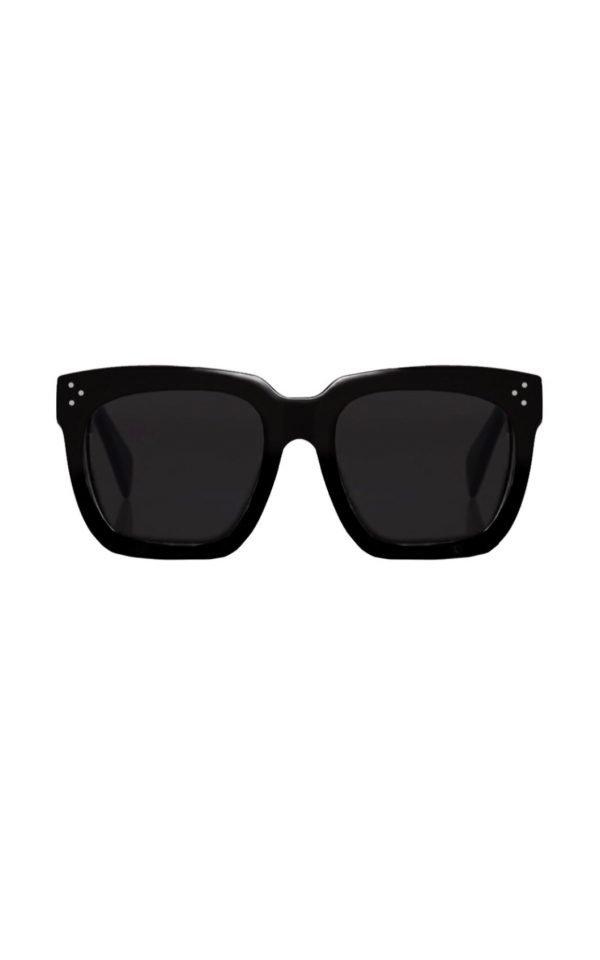 Zwarte Zonnebril KoKo zwart donker designer inspered dames zonnebrillen trendy brillen kopen