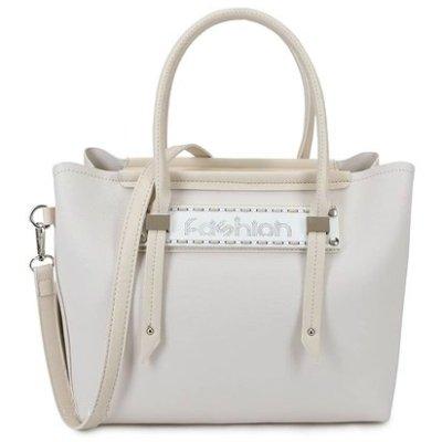 Bag-in-Bag-Tas-Fashion-beige nude -tassen-handtassen-tekst- fashion dames- kunstleder tas kopen-bestellen