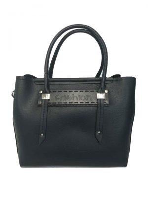 Bag in Bag Tas Fashion zwart zwarte tassen handtassen tekst dames giuliano kopen bestellen d