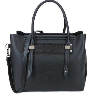 Bag-in-Bag-Tas-Fashion-zwart-zwarte-tassen-handtassen-tekst- fashion dames- kunstleder tas kopen-bestellen