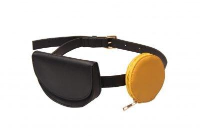 BeltBag Duo Tas geel gele zwart zwarte tasjes riemtas heuptas festivaltasjes fannypack bumbag kopen