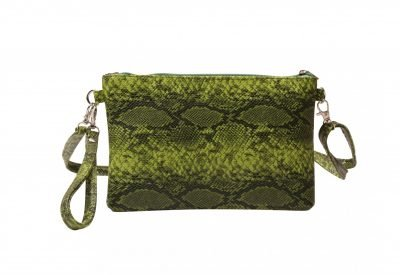 Clutch Slangenprint groen groene tas clutches schoudertassen snake print kopen bestellen goedkoop festival