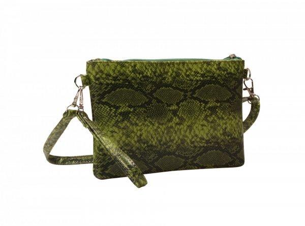 c99e78c51f2 Clutch Slangenprint groen groene tasjes clutches schoudertassen snake print  kopen bestellen goedkoop