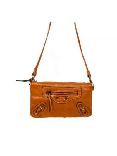 Clutch Tasje Faya bruin bruine portemonnee polsband schoudertasje festival tasjes giulliano kopen