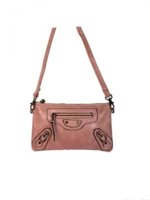 Clutch Tasje Faya roze oud roze portemonnee polsband schoudertasje festival tasjes giulliano bestellenjpg