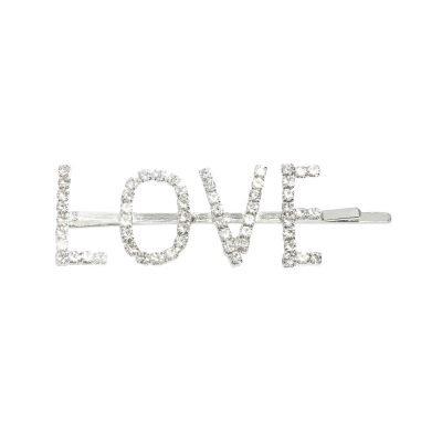Haarclip Love Diamonds zilveren zilveren haar pinnen haarclips dames grote tekst kopen yehwang