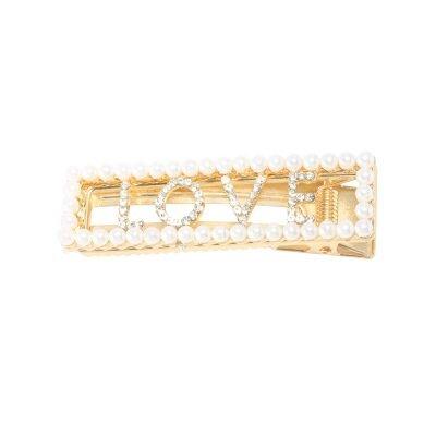 Haarclip Love & Pearls grote haar pinnen haarclips met parels steentjes dames haar accessoires kopen yehwang