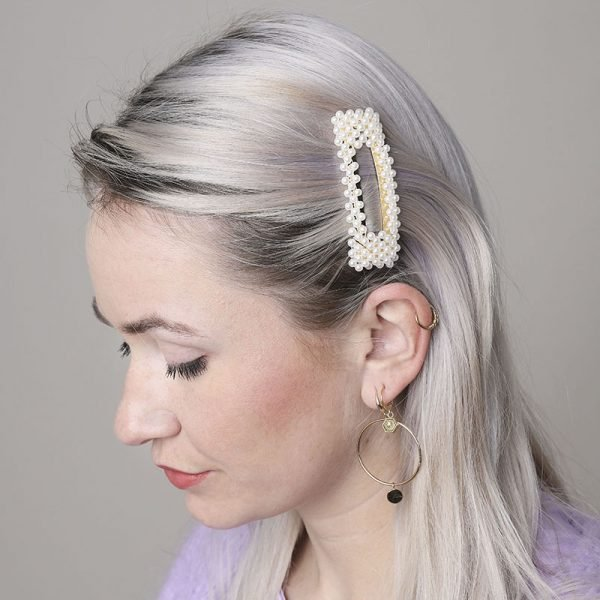 Haarpin Pearl With Me vierkante haarpin haarclip haar accessoires dames parels kopen trendy trends details