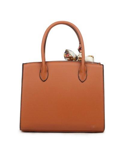 Handtas Pretty Simple bruin bruine dames tassen sjaaltje luxe trendy kopen achter