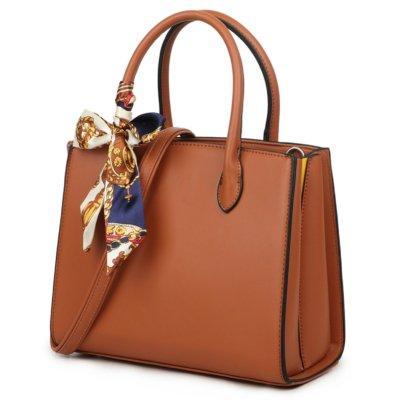 Handtas Pretty Simple bruin bruine dames tassen sjaaltje luxe trendy kopen side