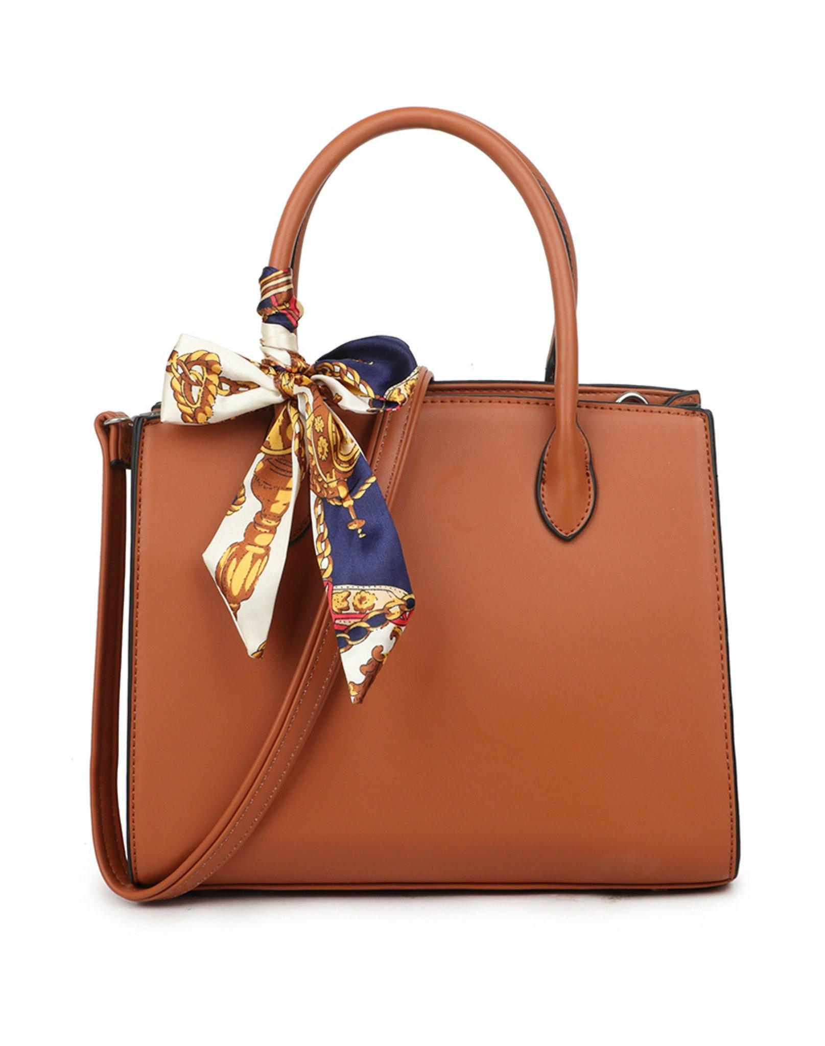 Handtas Pretty Simple bruin bruine dames tassen sjaaltje luxe trendy kopen