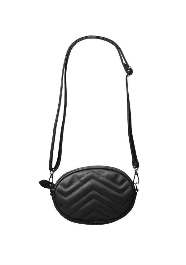 Heuptas Stylisch Me schoudertas zwart zwarte-ovale-beltbag-riemtas-heuptasje-met-riem-fashion-festival-musthave- festivaltasjes bumbag