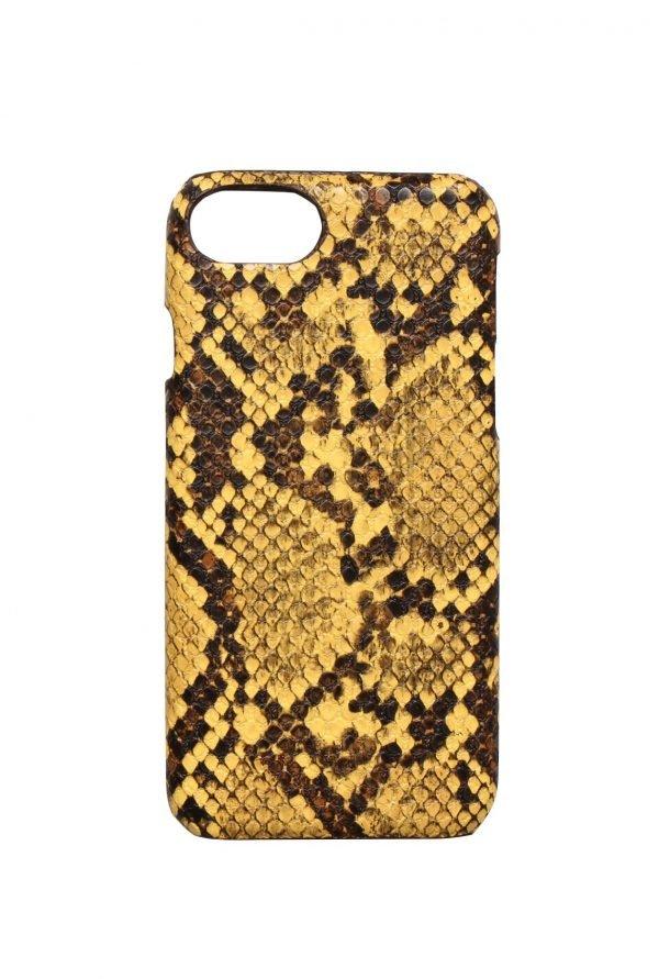 Iphone Hoesje Snake geel gele telefoonhoesjes Iphone 6 7 8 kopen trendy