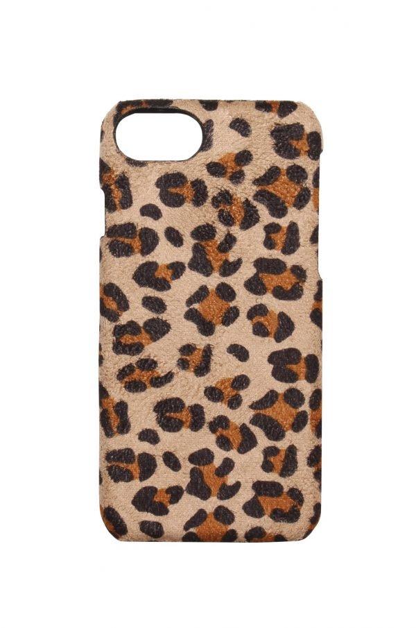 Iphone Hoesje Suede Leopard creme beige telefoonhoesjes Iphone 6 7 8 kopen trendy