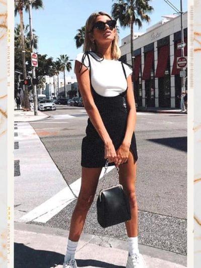 Jurk-Shirt-Dress-zwarte-zwart-korte-jurken-wit-t-s