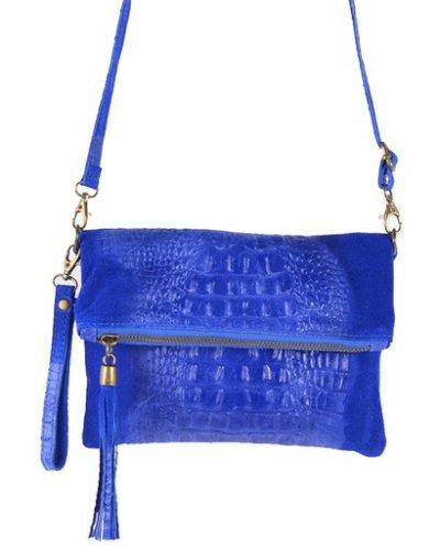 Leren-Kroko-Clutch-Must-kobalt blauw blauwe-lederen-leer-clutches-schoudertassen-met-kwastje-ritssluiting-musthave-leren-tasjes-bestellen
