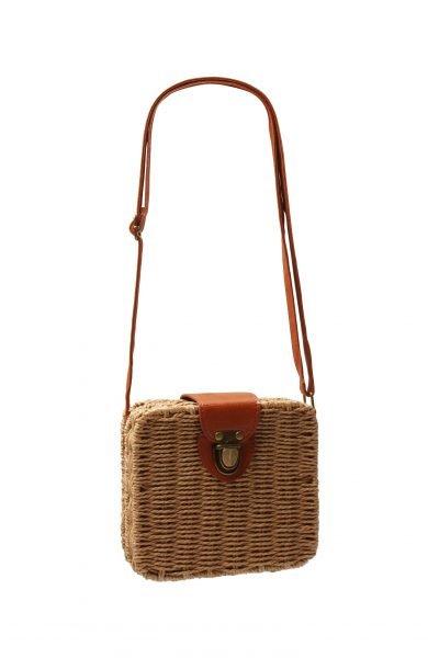 Rieten Tasje Ibiza Square bruin bruine rieten rotan rattan vierkante tassen festival zomer tassen kopen