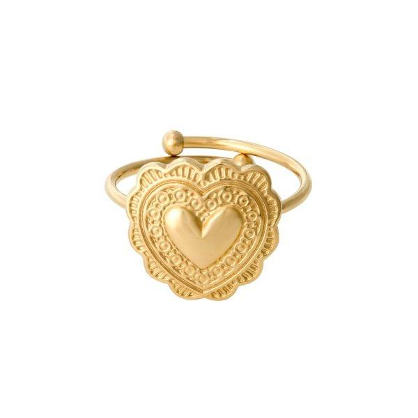Ring True Love goud gouden rvs verstelbare ringen dames sieraden yehwang kopen