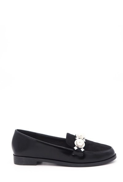 Zwarte Loafer Studs Pearls a