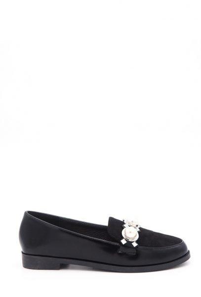 Zwarte Loafer Studs Pearls a