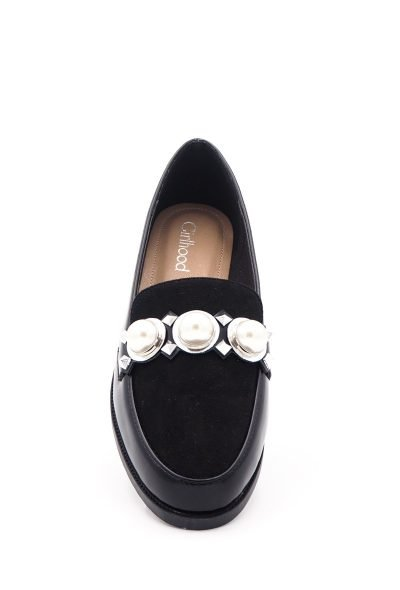 Zwarte Loafer Studs Pearls d