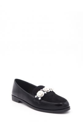 Zwarte Loafer Studs Pearls s