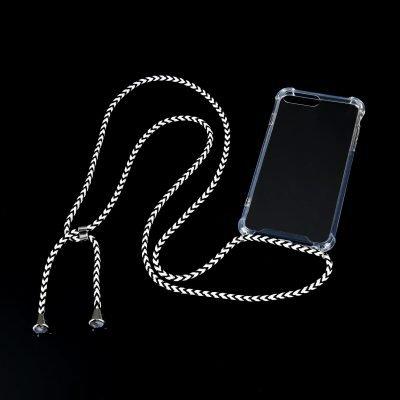 Doorzichtige Iphone Telefoonhoesje met koord festival telefoon hoesje met ketting koord draad om de nek kopen