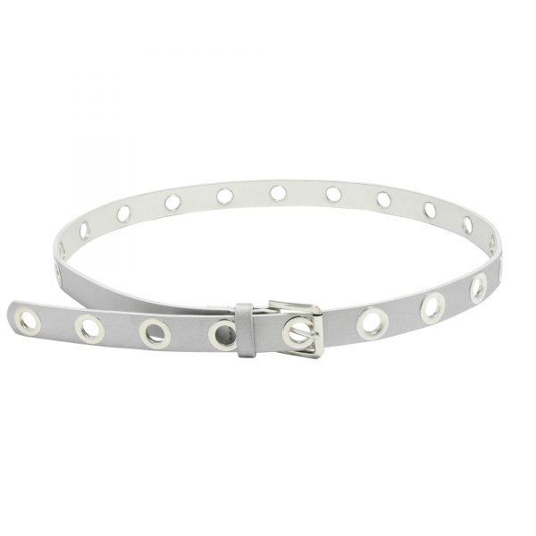 Riem Put A Chain On It zilver zilveren riemen eyelets voor ketting hengsel fashion accesoires festival kopen