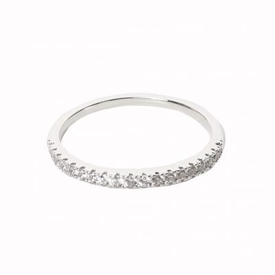 Ring Magic Row zilver zilveren dames ringen diamantjes strass steentjes kopen bestellen dames sieraden