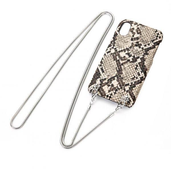 Snake Khaki Iphone Telefoonhoesje met koord festival telefoon hoesje met ketting koord draad om de nek kopen