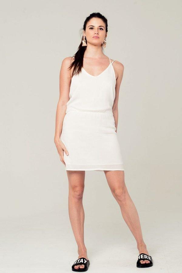 Witte Jurk Sexy Back witte korte dames jurken kant detail rug festival fashion jurkjes kopen zomer