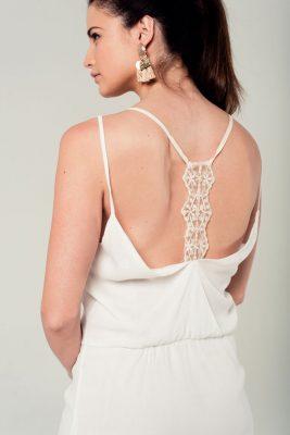 Witte Jurk Sexy Back witte korte dames jurken kant detail rug festival fashion jurkjes kopen zomer achterkant
