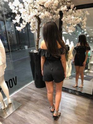 Zwarte Strapless Playsuit Black zwarte off shoulders festival kleding dames musthave fashion kopen bestellen
