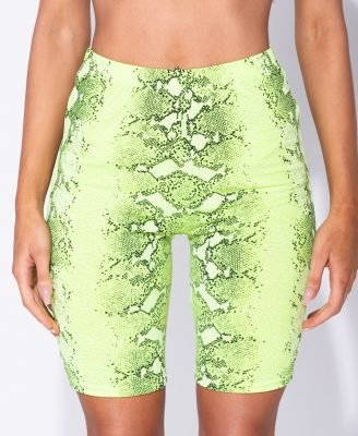Biker-Short-Snake-green slangenprint-cycling shorts-fietsbroek-snakeprint-korte-leggings-wielrenbroekken-kopen-bestellen-fashion festival