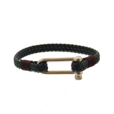 Gevlochten Mannen Armband Simple stainless steel slot stoere mannen armbanden bracelets kopen
