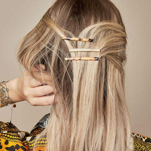 Haarclip Pastel Sparkle goud gouden haarpinnen haarclips vrouwen bestellen