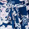 Jumpsuit Simple Blue blauw blauwe bloemenprint playsuit met riem dames festival fashion kopen detail