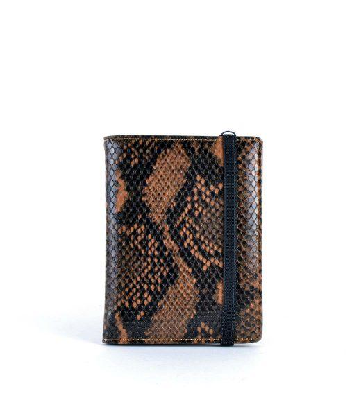 Paspoorthouder Slangenprint bruin bruine snake print paspoort mapje houder reisdocumenten kopen