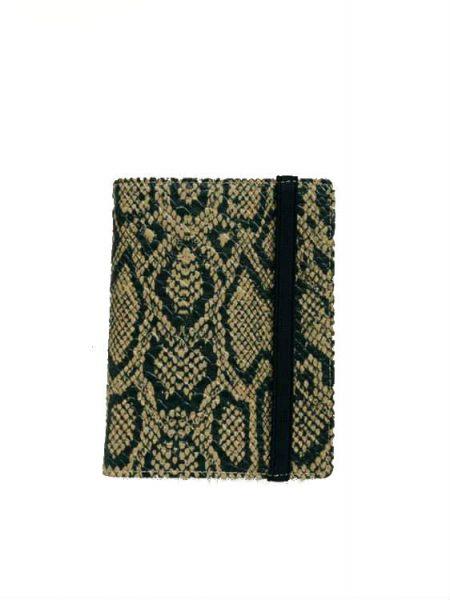 016de10990f Paspoorthouder Slangenprint taupe snake print paspoort mapje houder  reisdocumenten houder kopen