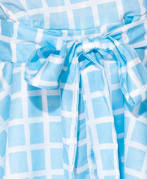 Playsuit Blue Summer blauwe blauw korte jumpsuit dames kleding festival fashion v hals bestellen trends detail