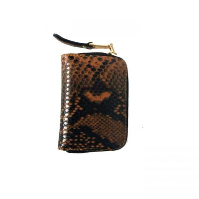 Portemonnee-Slangenprint-bruin bruine-snake-print-Portemonnees-kleine-wallets-giuliano-tasjes-kopen-1-400x533