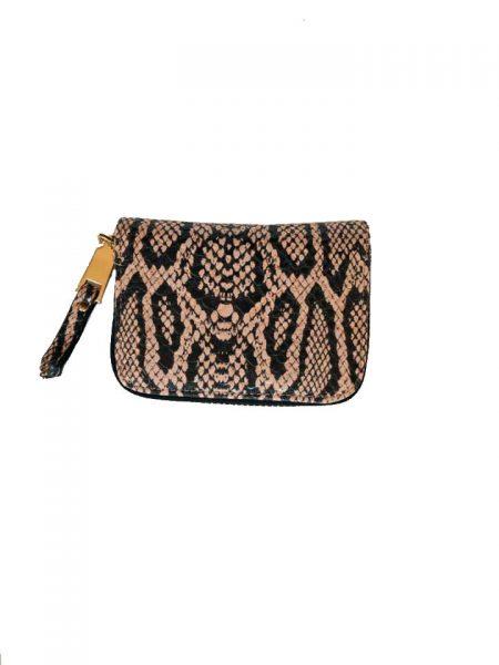 Portemonnee Slangenprint roze snake print Portemonnees kleine wallets giuliano tasjes kopen