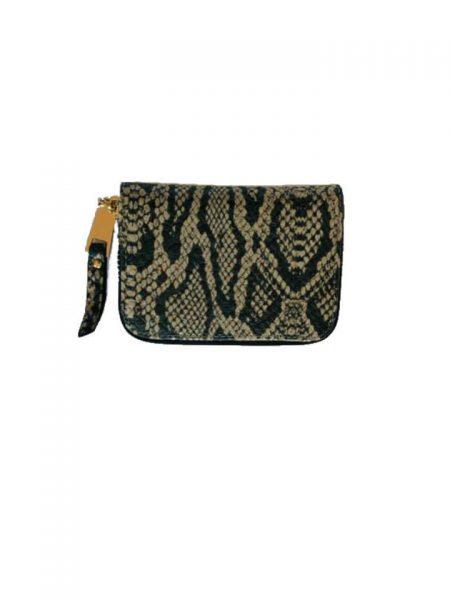 53106fd51bd Portemonnee Slangenprint taupe snake print Portemonnees kleine wallets  giuliano tasjes kopen
