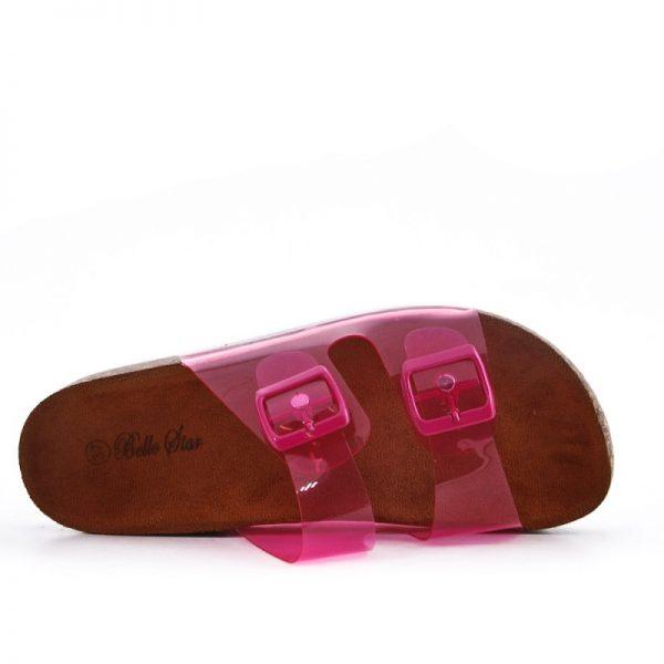 Slipper Neon Pink roze dames birkenstock doorzichtig kopen
